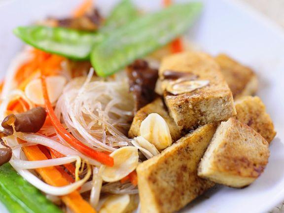 Gemüsepfanne mit Tofu aus dem Wok