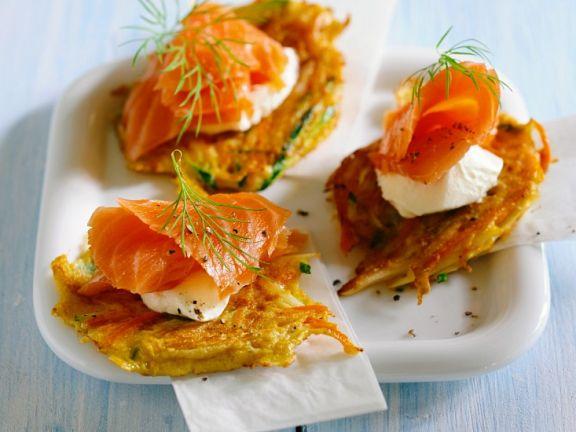 Gemüsepuffer mit Lachs