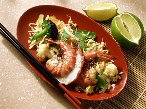 Gemüsereis auf thailändische Art