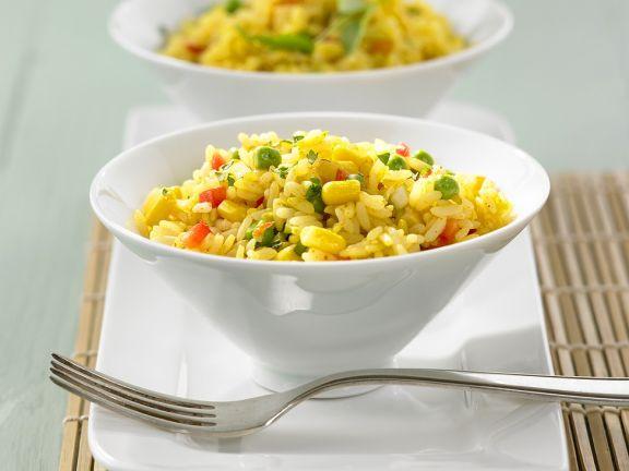 Gemüsereis mit Curry