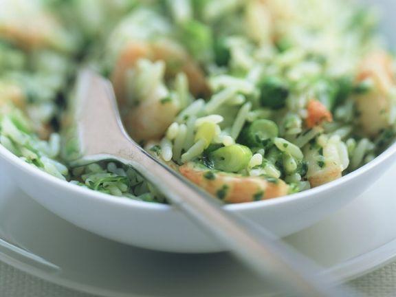 Gemüsereis mit Garnelen