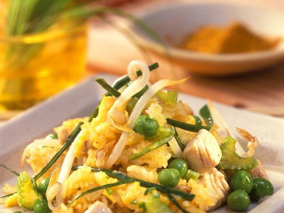 Gemüsereis mit Hähnchen
