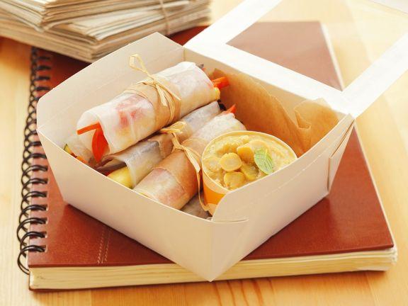 Gemüseröllchen aus Reispapier
