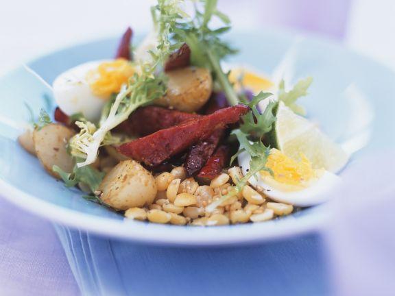 Gemüsesalat mit Roter Bete und Ei