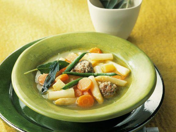 Gemüsesuppe mit Fleischbällchen