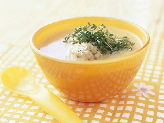 Gemüsesuppe mit Hafer-Klößchen