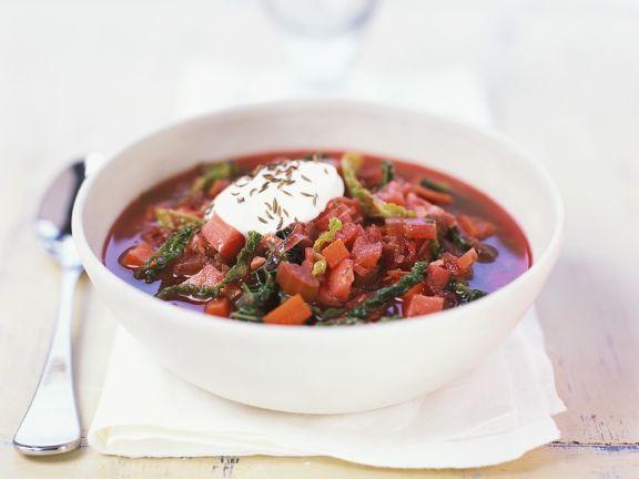 Gemüsesuppe mit Wirsing