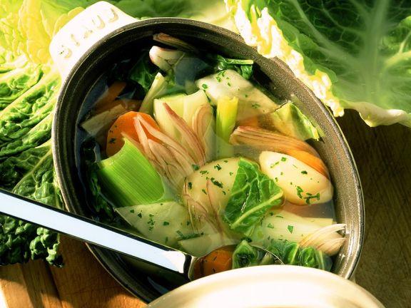Gemüsesuppe für die Ernährung