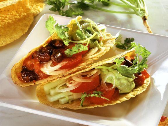 Gemüsetacos mit Avocado