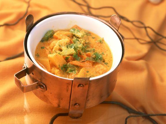 Gemüsetopf auf indische Art
