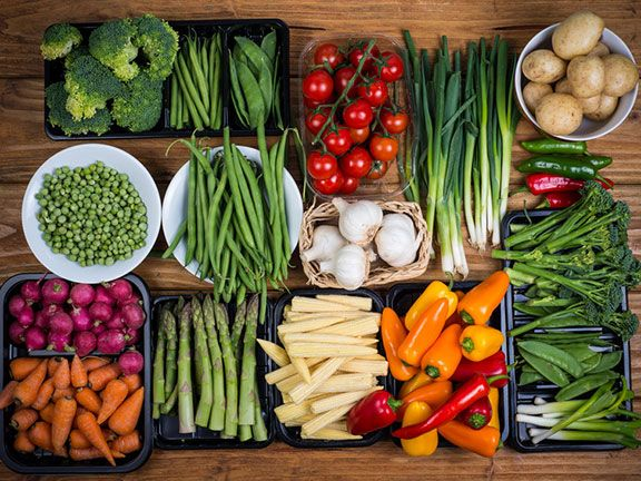 Viele verschiedene Gemüsesorten