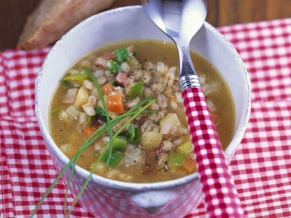 Gersten-Speck-Suppe
