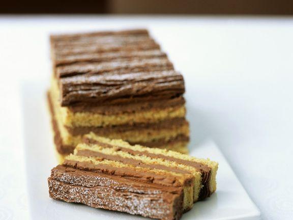 Geschichteter Kuchen Mit Milch Schoko Creme Rezept Eat Smarter