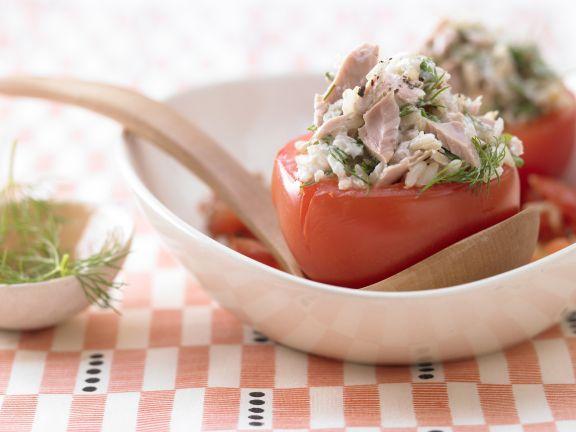 Geschmorte Thunfisch-Tomaten