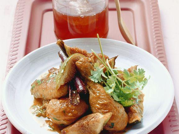Geschmortes Hähnchen mit Honig-Feigen