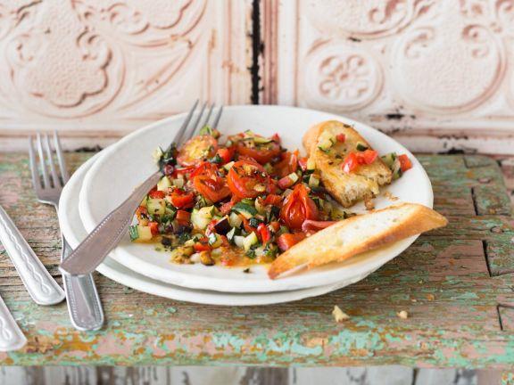 Geschmortes mediterranes Gemüse