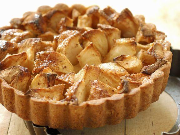 Gesunder Apfelkuchen mit Mürbeteig