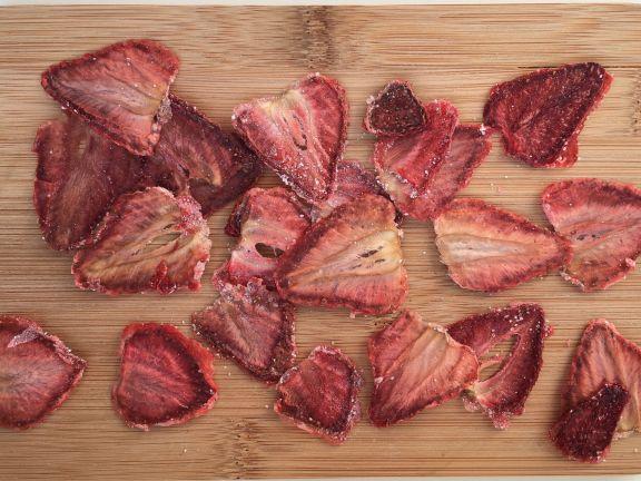 Erdbeer-Chips - getrocknete Erdbeeren