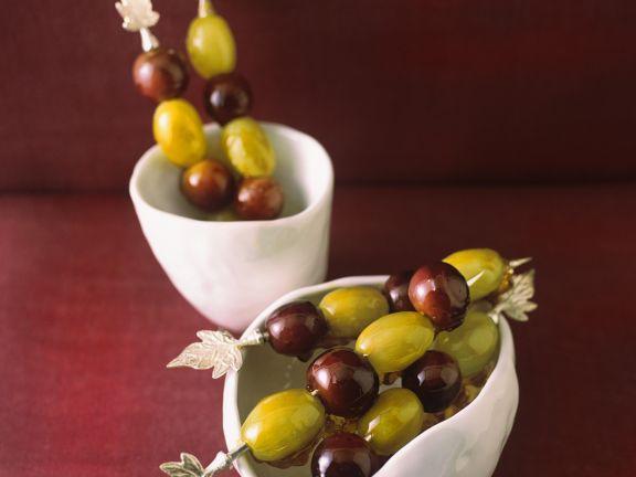 Glasierte Weintrauben