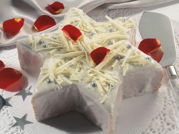 Glasierter Stern-Kuchen