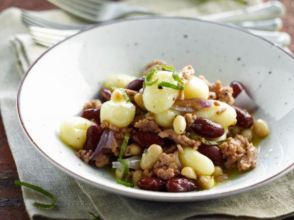 Gnocchi mit roten Bohnen und Hackfleisch