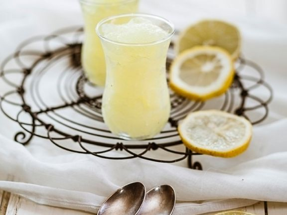Granité von der Zitrone (vegan)