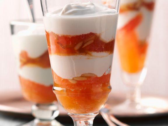 Grapefruit-Joghurtdessert