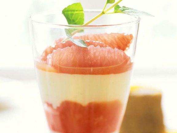Grapefruit-Schichtbecher