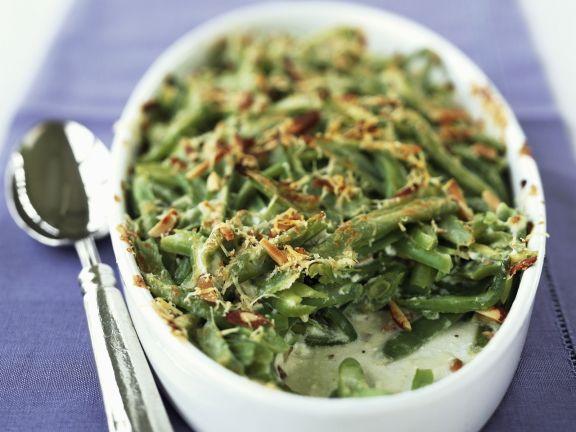 Gratin mit grünen Bohnen