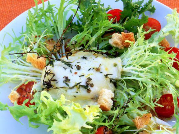 Gratinierter Ziegenkäse mit Salat