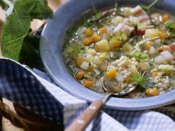 Graupen-Gemüse-Suppe