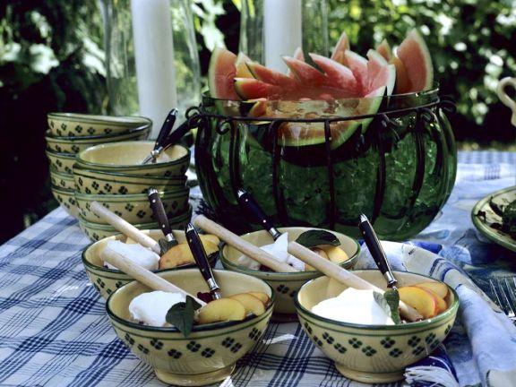 Graupen mit Früchten