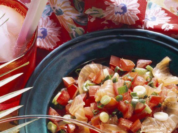Graved Lachs mit Tomaten