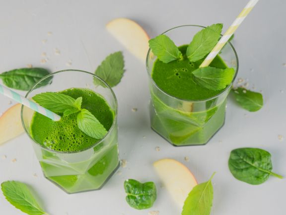 Green Smoothie mit Minze