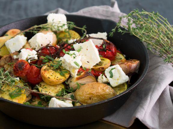 Griechisches Gemüse mit Feta