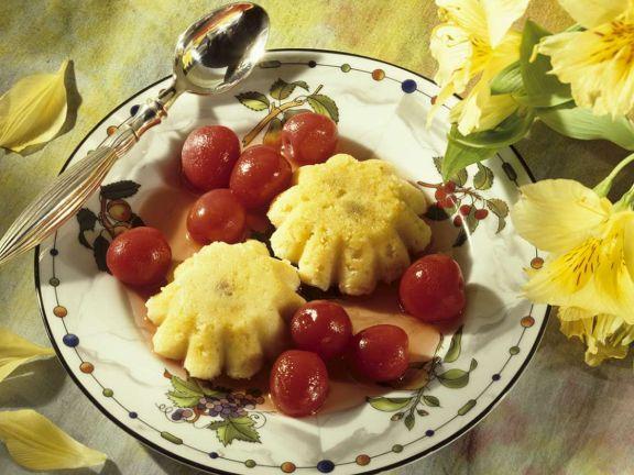 Grießküchlein mit Kirschen