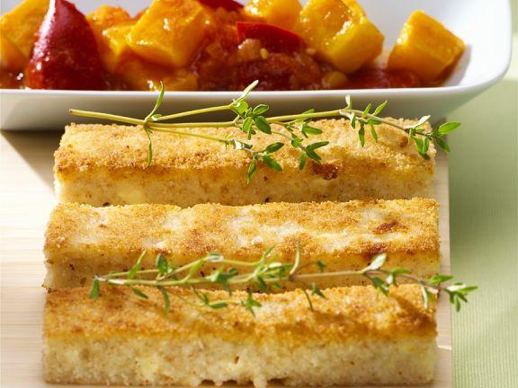 Grießschnitten mit Paprikagemüse