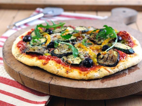 Grillgemüse-Pizza