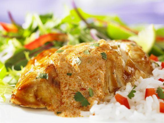Grouper mit rotem Curry auf thailändische Art