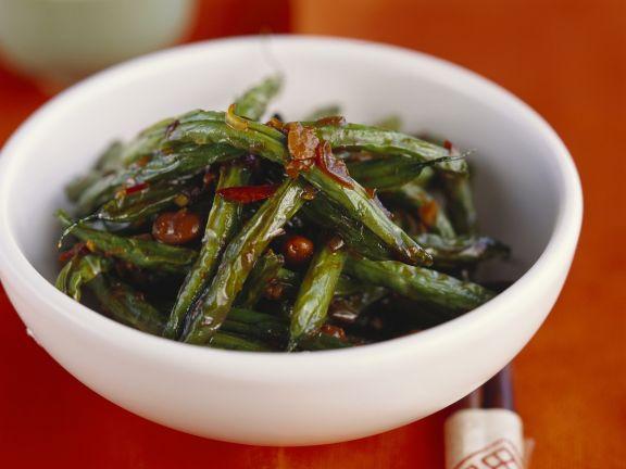 Grüne Bohnen auf chinesische Art