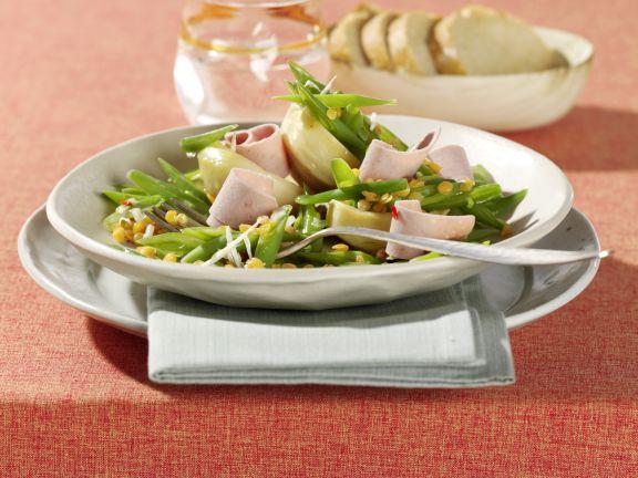 Grüne Bohnen-Linsen-Salat