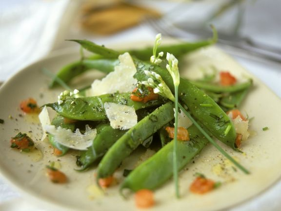 Grüne Bohnen mit Parmesan