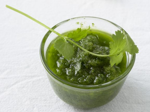 Grüne Mojo-Soße