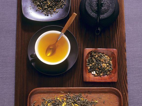 Grünen Tee zubereiten