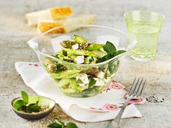 Grüner Spargelsalat mit Feta