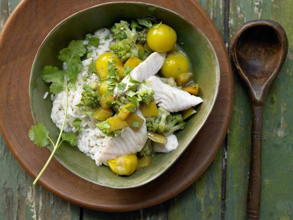 Grünes Fisch-Curry