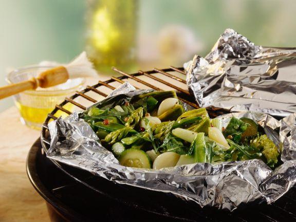 Grunes Gemuse In Folie Gegrillt Rezept Eat Smarter