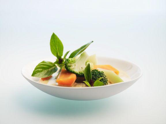 Grünes Gemüsecurry