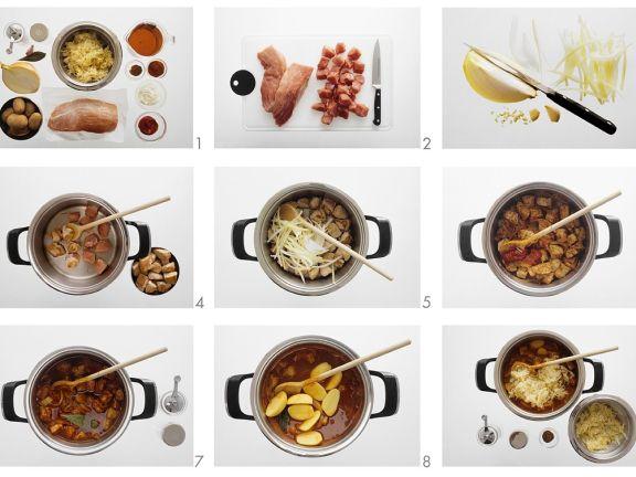Gulasch mit Sauerkraut