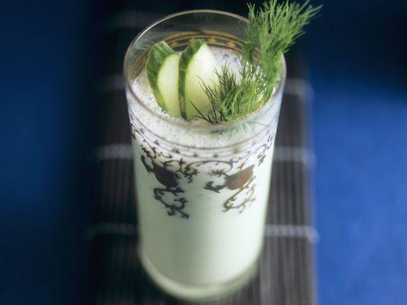 Gurken-Drink mit Wasabi